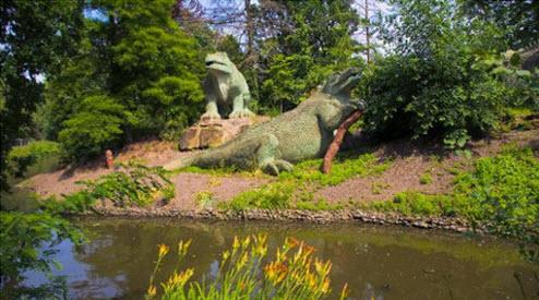 Reptile statues at Crystal Palace Park