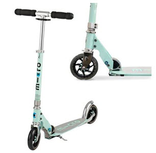 mint green scooter