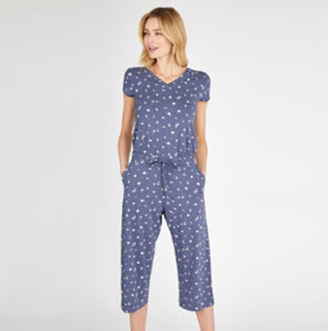 cap sleeve crop ditsy spot jumpsuit from Laura Ashley