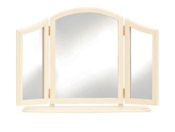 Clifton ivory triple mirror