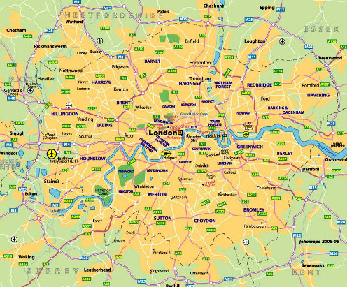 Road map of London