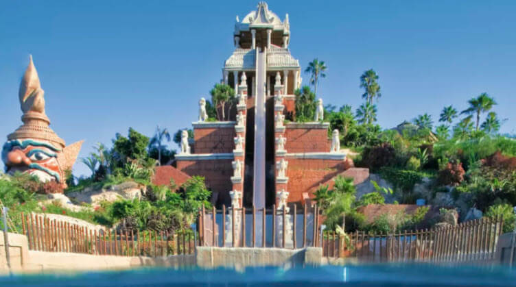 Waterslide at Siam Park
