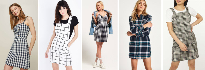 Spring Fashion Checked Dresses