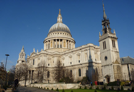 View from outside St Paul's Cathedral