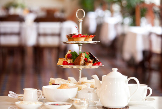 afternoon tea for two with spa