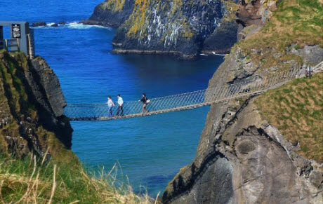 View of Carrick-a-rede rope ridge