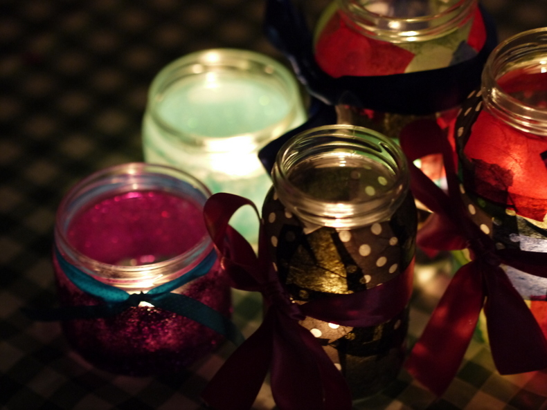 How to: Turn Jam Jars Into Candle Holders