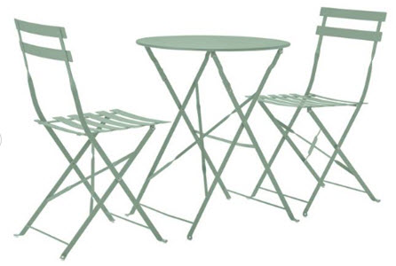 Eve folding two seater bistro set from Argos