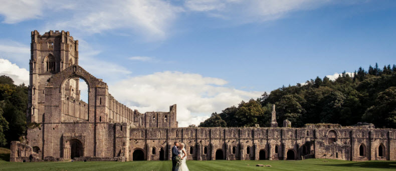 Fountains Abbey outdoor wedding venue