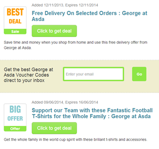 George at ASDA vouchers