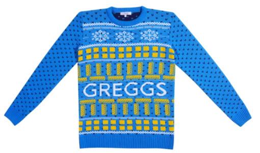 Greggs Christmas jumper