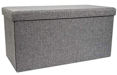 Grey foldable ottoman