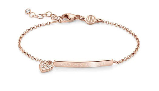 Rose gold Gioie heart bracelet from John Greed