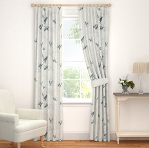 Animalia Silver Curtains with cranes from Laura Ashley