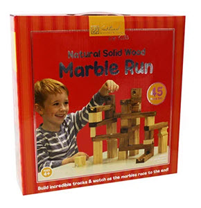wooden marble run game