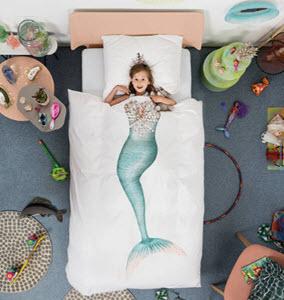 Snurk mermaid duvet and pillow set
