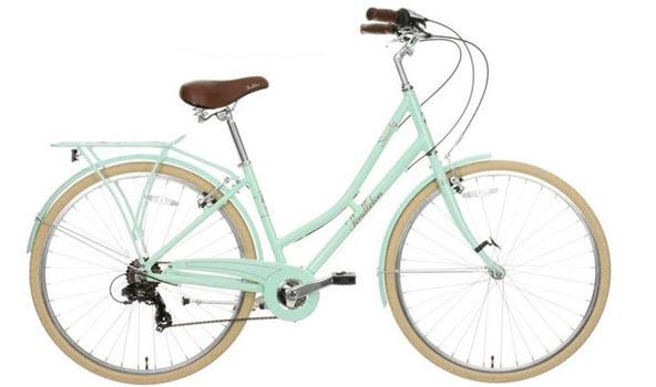 mint green bike