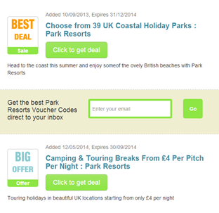 For Park Resorts we currently have 0 coupons and 47 deals. Our users can save with our coupons on average about $ Todays best offer is Up to £7 off Touring and Camping Bookings Per Night.
