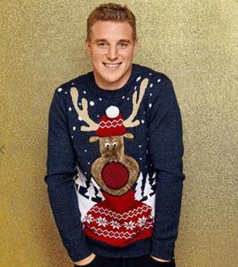Burton fluffy reindeer jumper
