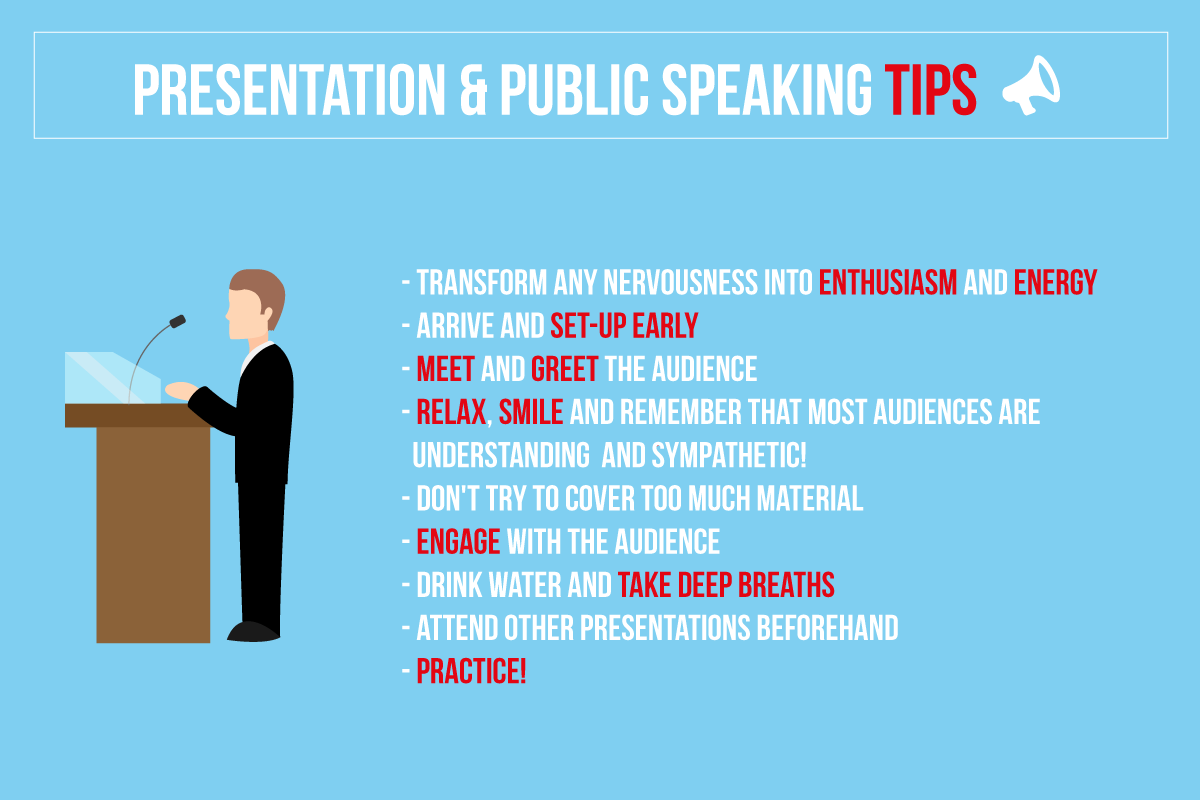 Develop your presentational skills