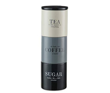 Staking tea coffee sugar canisters