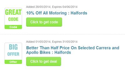Halfords Car Parts Discount Code