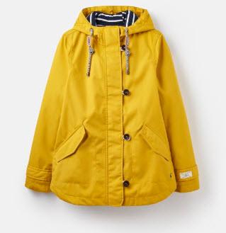 yellow rain coat